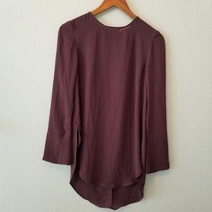 H&M Blouse Career Burgundy Tunic size 2